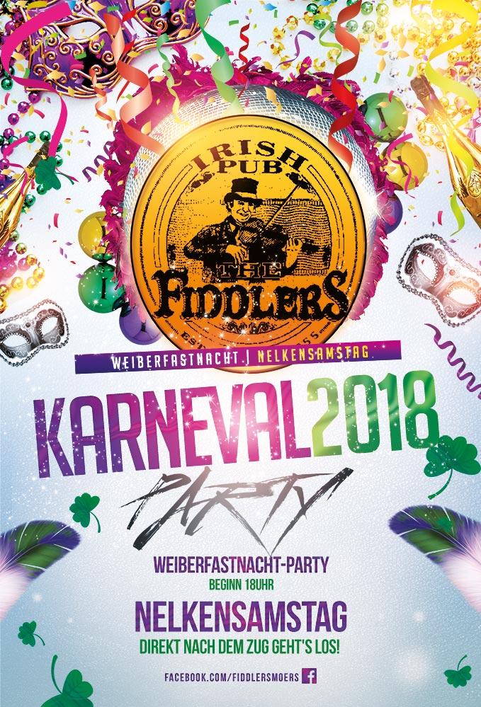 Fiddlers Karneval-Party 2018