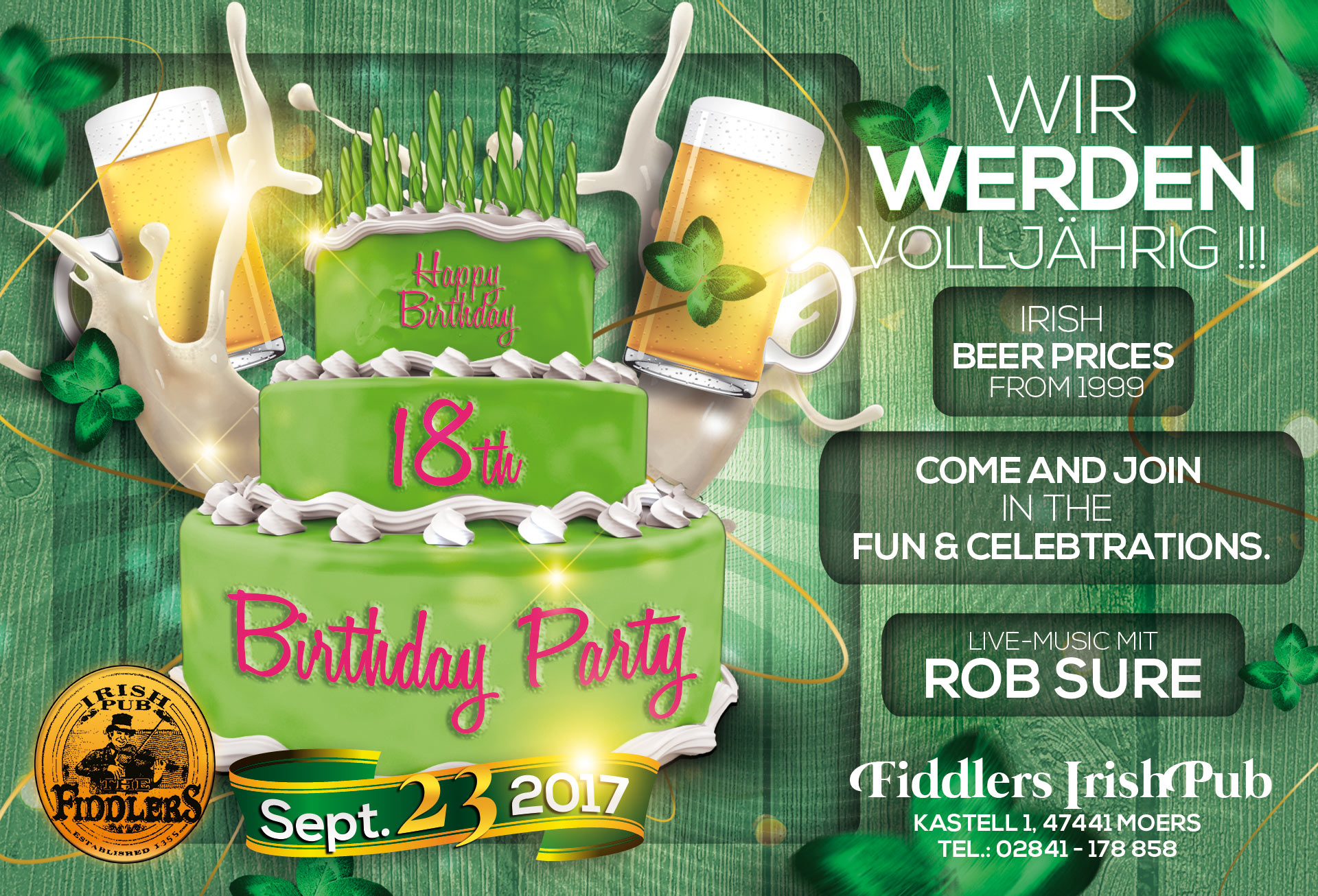 Fiddlers 18. Geburtstagsparty