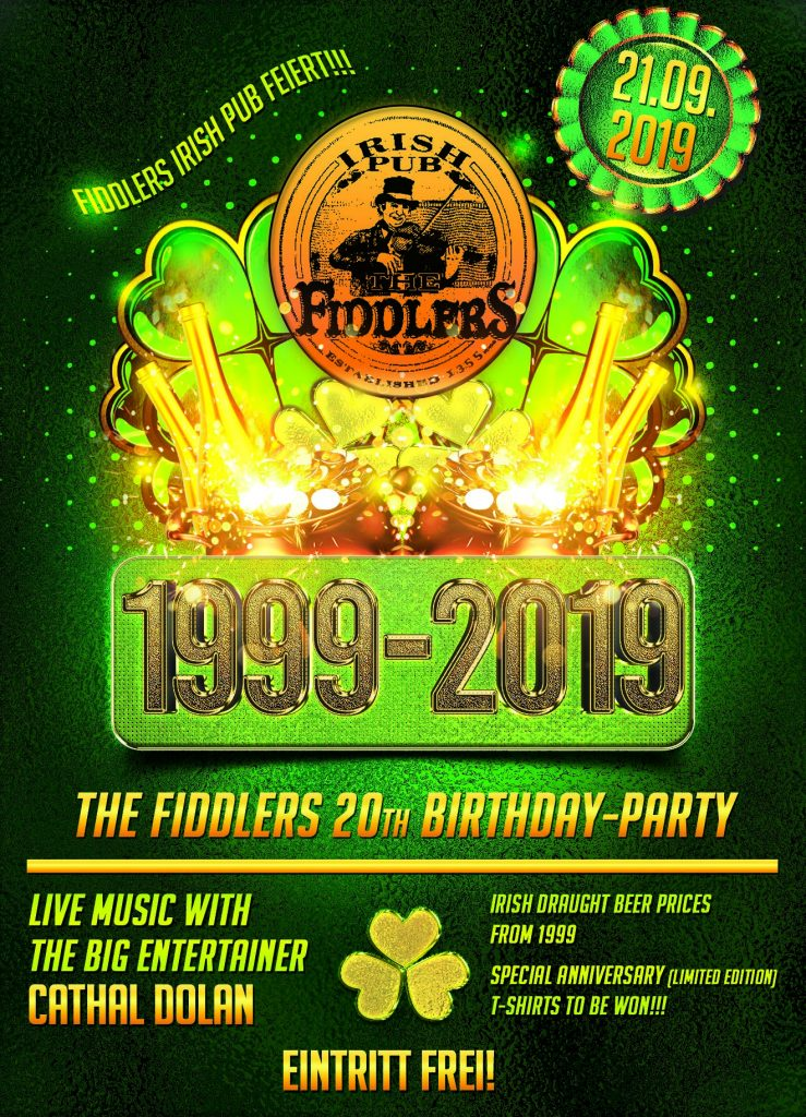 Fiddlers 20th birthday-party
